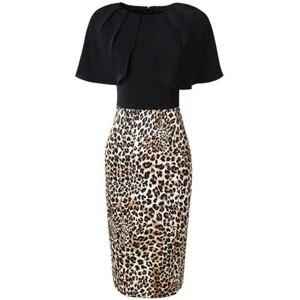 Image 3 - Vestido de Primavera de talla grande de leopardo, retazos