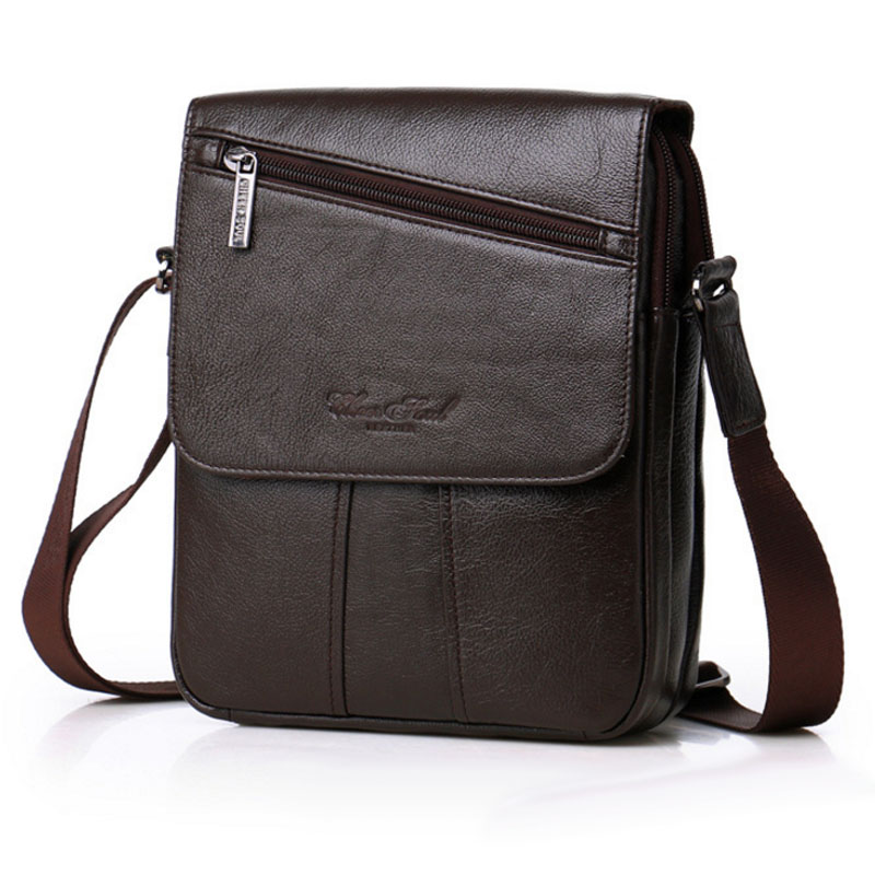 все цены на Men fashion Genuine Cowhide Leather High Quality Business Crossbody Shoulder Bag Cigarette Case Phone Bags wallet Casual Bags