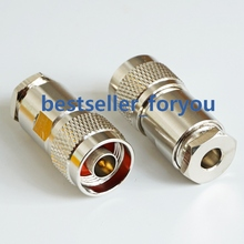 RF N разъем штекер зажим коаксиальный для LMR195 RG58 RG142 RG400 кабель