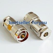 Conector macho de conector rf n, braçadeira coaxial para lmr195 rg58 rg142 rg400 cabo