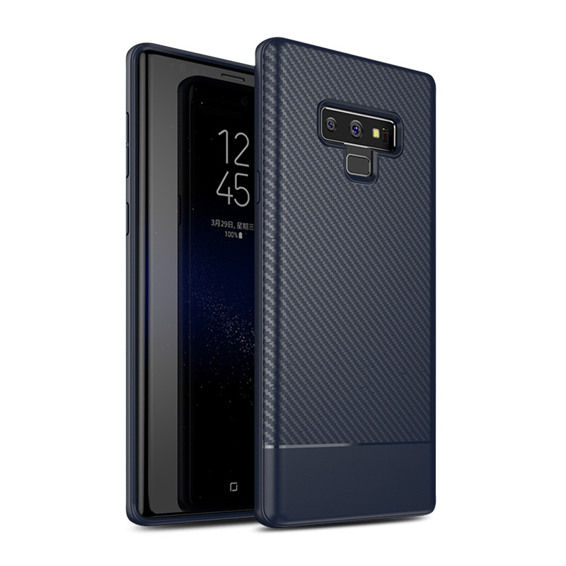 Carbon Fiber Soft TPU Business Shockproof Case Cover For Samsung Galaxy Note 9