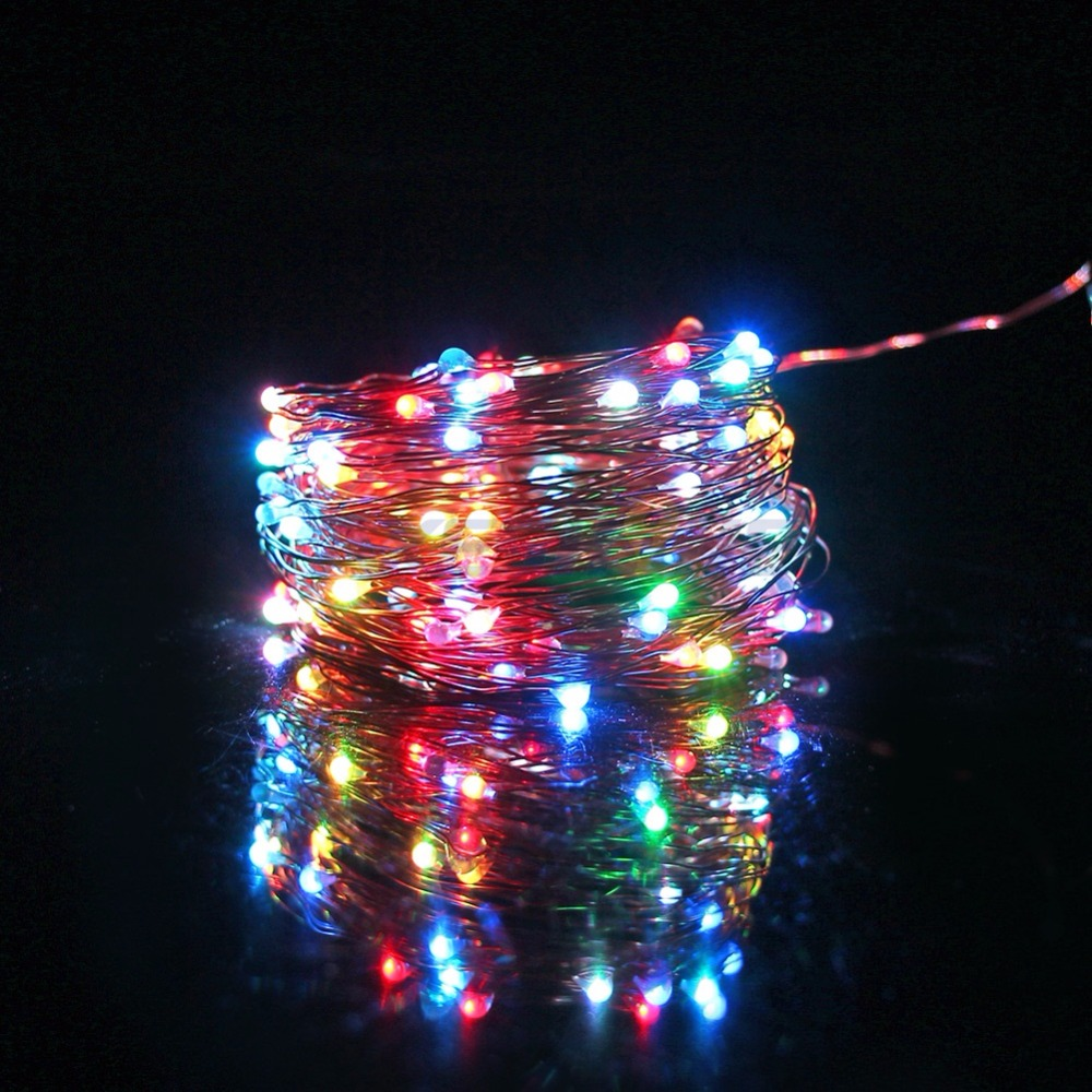 AXESHINE String Lights 10M Copper Wire LED String Lights Color Changeable For Christmas Wedding Party Home Indoor Outdoor Decor