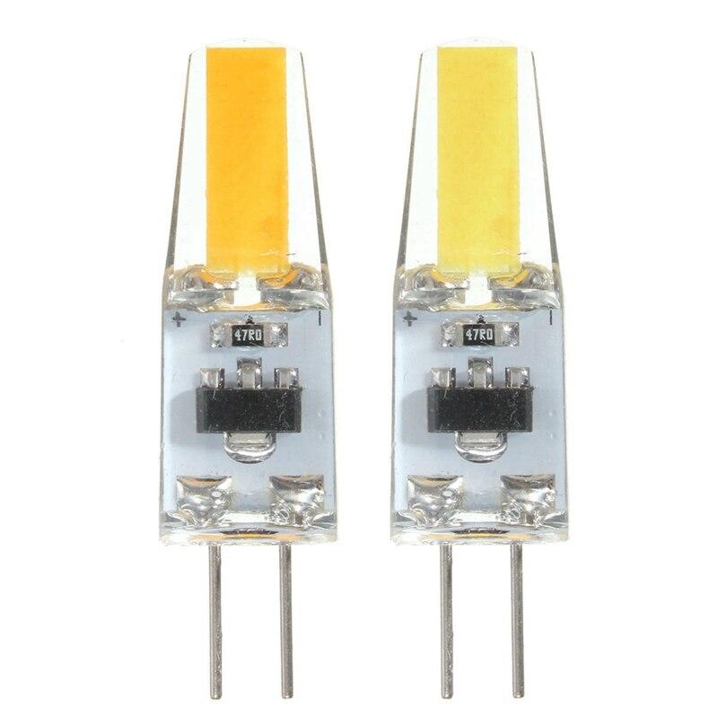 10 unids Mini G4 LED COB LED ampoule 2 W blanc pur/blanc chaud maïs lumière spot G4 lampes lumière 150-180LM DC12V lustre lumière