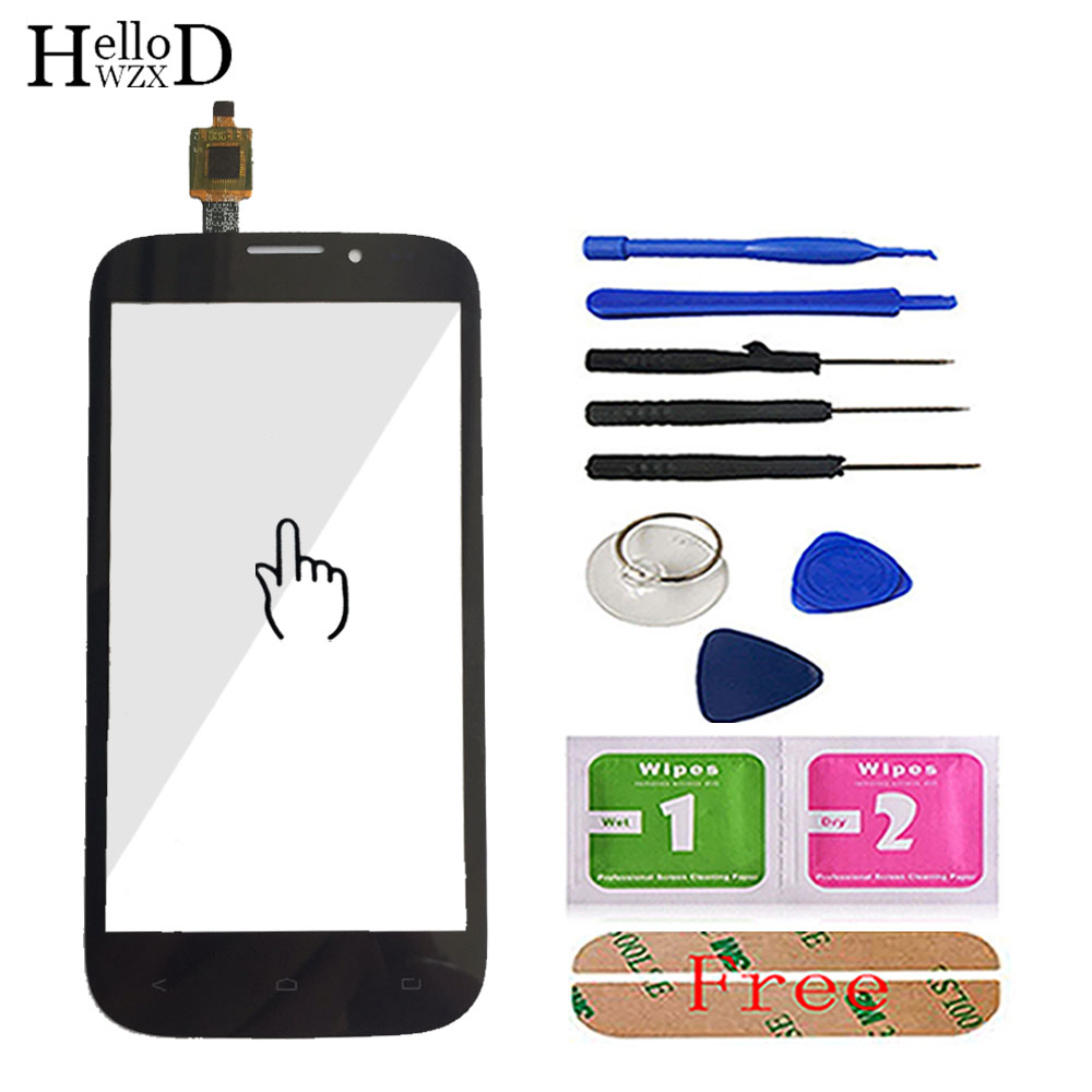 Touch Screen Glass IQ 4404 For Fly IQ4404 Touch Screen Digitizer Panel Glass Panel Sensor Len Parts Tools Adhesive