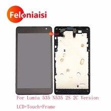 Ограниченное предложение 5,0 »для microsoft Nokia Lumia 535 N535 CT2S1973 CT2C1607 ЖК Дисплей с Сенсорный экран планшета Панель сборки полный кадр