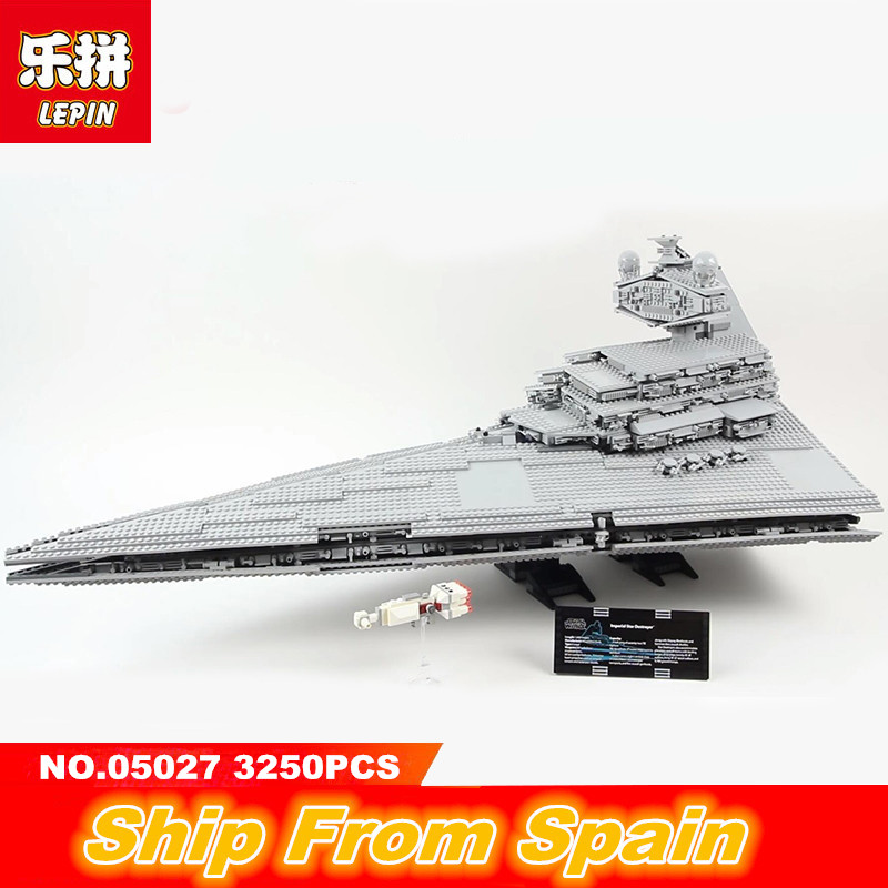 Lepin Star Wars 05027 3250PCS Building blocks Imperial Star Destroyer Legoing starwar 10030 Self-Locking Bricks toys for kids lepin sets star wars figures 3250pcs 05027 imperial star destroyer model building kits blocks bricks educational kid toys 10030