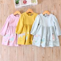 Children Cartoon Clothing Wholesale Baby Girls Princess Horse Print Dresses Kids Boutique Animal Character Clothes 5pcs
