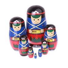8pcs/ Set Wooden Nesting Dolls Russian Matryoshka Kids Toys Christmas Gifts Home Decorations High Quality