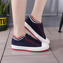 Woman Sneaker Canvas Shoes Female Lace Up Flats Fashion Girls Casual Breathable Black and White Sneakers Ladies Skateboard Shoes цена