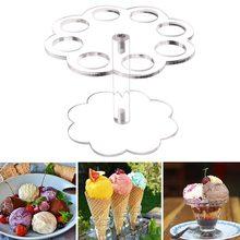 8 отверстий, сделай сам, съемный держатель для мороженого, прозрачный, вечерние, для дома, дисплей, выпускной стенд, практичный, кухонный, многоразовый, акриловый
