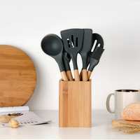 Sowoll Silicone Kitchenware Cooking Set Good Spatula Heat resistant Soup Spoon Non stick Special Cooking Shovel Kitchen Tools