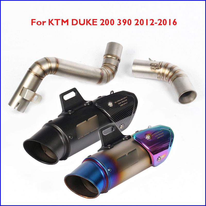 Mid Link Pipe For KTM 200 390 2012-2016 Slip on Motorcycle Exhaust Muffler Tip