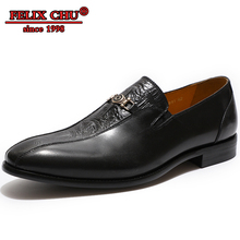 Luxury Brand Genuine Leather Men Shoes Men Loafer Shoes High Quality Banquet Pointed Toe Slip On Party Wedding Dress Black Shoes