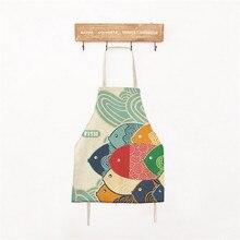 Рыба Узоры Дети Фартук Модный Япония Стиль Vintage Кухня Приготовления Выпечки Фартуки для Детей