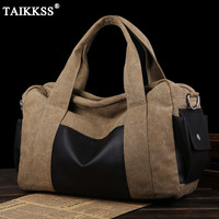 Vintage Canvas Leather Men Travel Large Capacity Bags 2017 New Carry On Luggage Bags Multifunctional Travel
