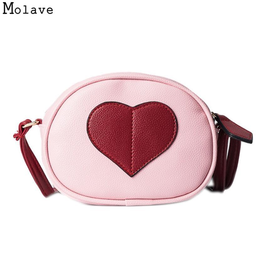 AA Naivety Women Messenger Mini Bag Heart-Shaped Round Shoulder Bags PU Leather Crossbody Round Handbag 28S7914 drop shipping