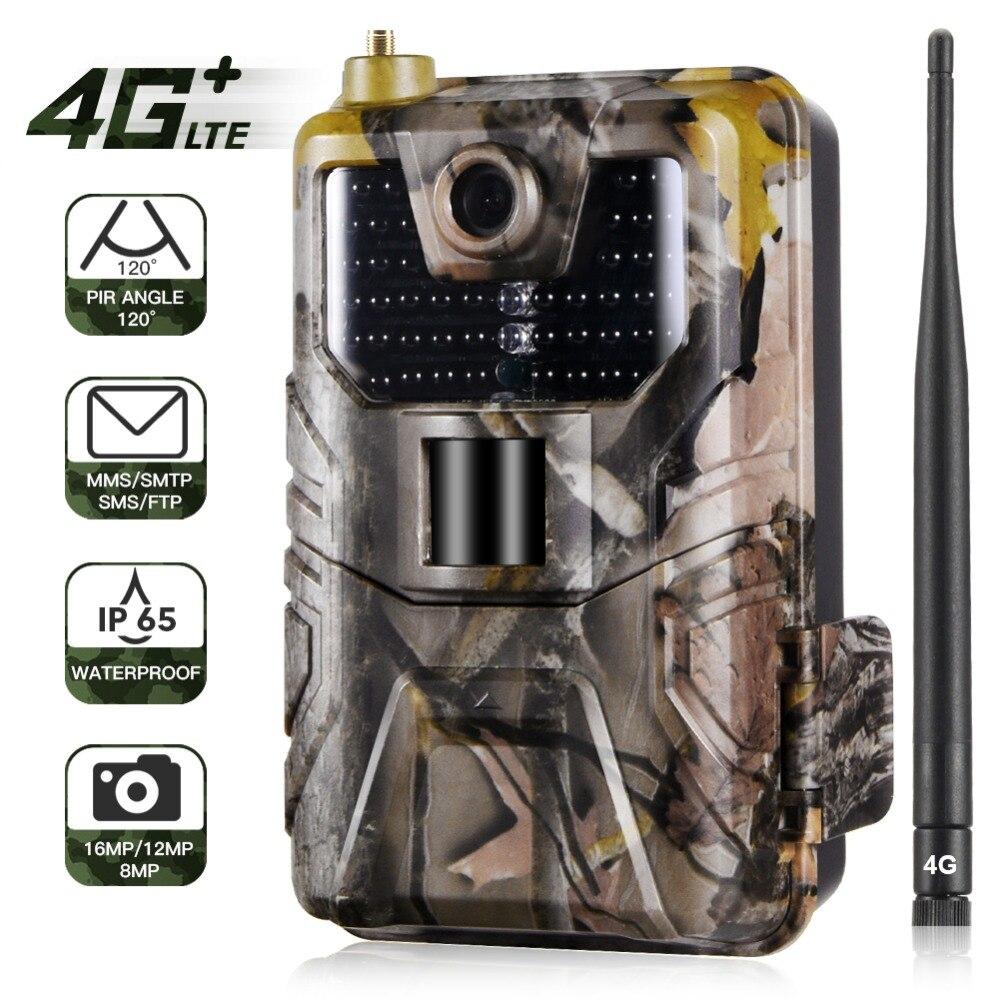 4G Hunting Camera 16MP Trail Camera 940nm Photo Traps 0.3s MMS/SMS/SMTP/FTP Wild Camera