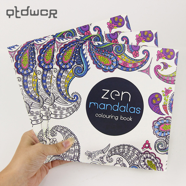 24 pages new mandala flower black and white diy coloring book painting graffiti book relieve stress - Diy Coloring Book