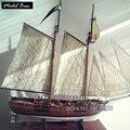 Kit Modelo de navio DIY Jogos Educativos Para Adultos Modelo do Navio de Madeira de Corte A Laser Escala 1/60 Navios Piratas Aventuras do Barba Negra