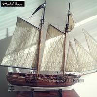 Ship Model Kit DIY Educational Games For Grownups Wooden Ship Model Laser Cut Scale 1/60 Blackbeard's Pirate Ships Adventures