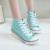 M. GENERAL de Moda Lona de Las Mujeres Zapatos de Las Cuñas de Encaje Hasta Zapatos de Mujer de Alta Crecientes Zapatos Casuales para dama Pisos Sólidos zapato # M6291