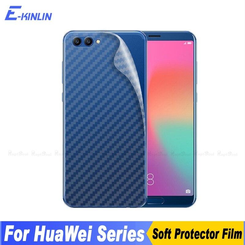 3D углеродного волокна задняя крышка Экран протектор для HuaWei Honor V10 вид 10 V9 играть V8 Max Примечание 8 смарт защитная пленка не Стекло ...