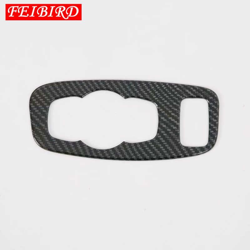 Матовый из углеродного волокна фары для переключателя передних фар Кнопка украшения рамки крышка отделка ABS, пригодный для Ford Focus 2019