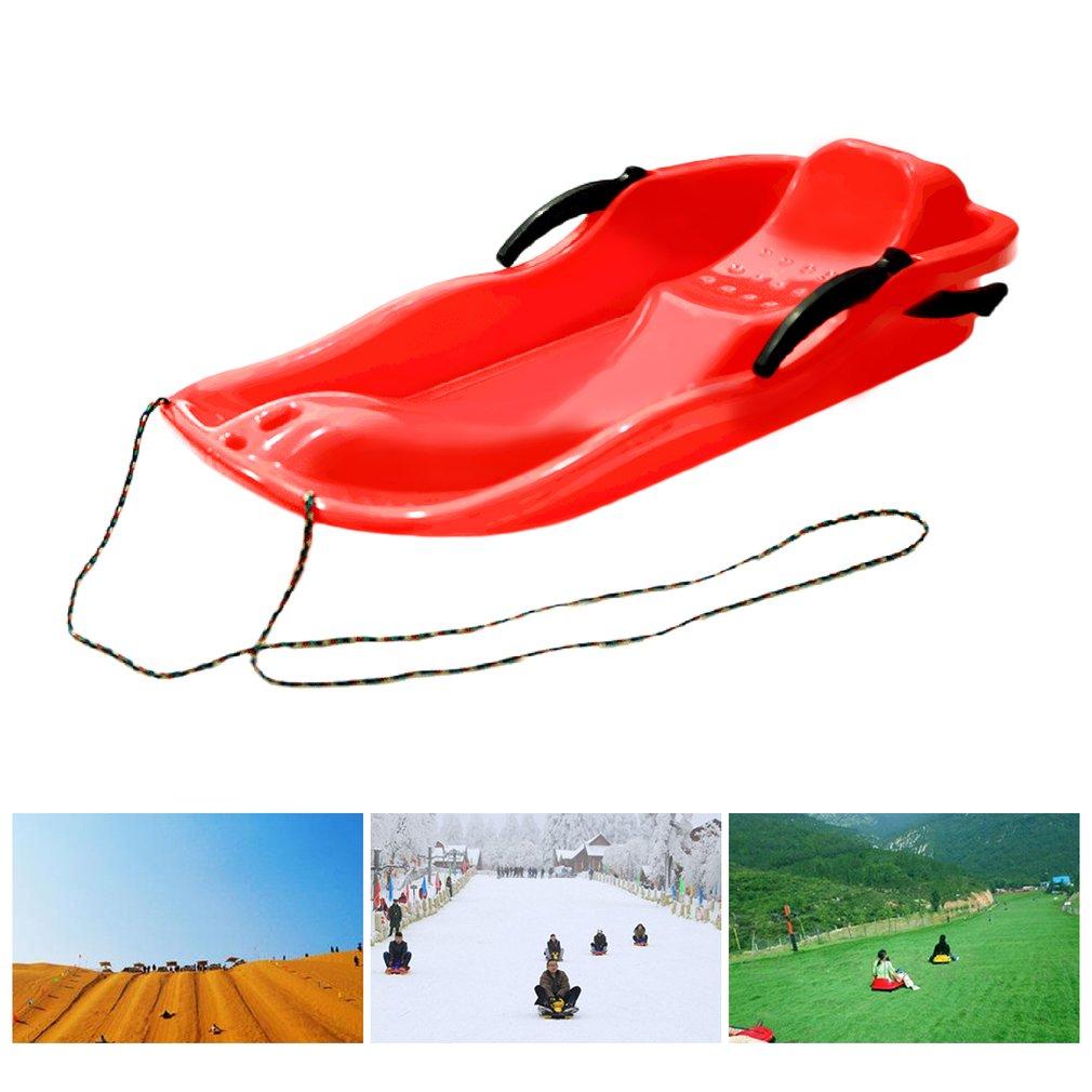 7 couleurs Sports de plein air en plastique planches de Ski Luge neige herbe sable planche Ski Pad Snowboard avec corde pour les doubles personnes - 2