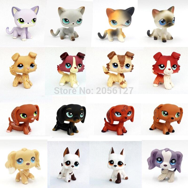 Rare Pet Shop Toys Cat #5 #391 Dog Collie Dachshund Crocker Spaniel White Great Dane Short Hair Standing Kitty