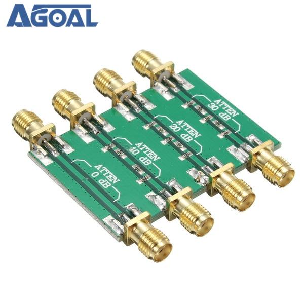 DC 4.0GHz 200mW DC 4.0GHz RF קבוע מחליש SMA כפול נקבה ראש 0dB 10dB 20dB 30dB