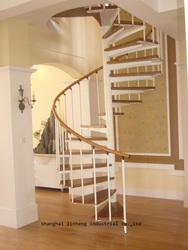 chinese cheap indoor steel-wood spiral staircase manufacturers, stairs for small spaces