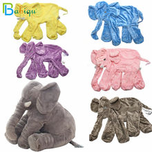 60cm Giant Elephant Skin Plush Toy No PP Cotton Plush Animal Soft Elephant Baby Sleeping Pillow Kids Toys Children Gifts(China)