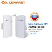 COMFAST 5.8Ghz Wireles outdoor CPE long Distance access point Antenna wi fi router 300Mbps waterproof repetidor wifi bridge