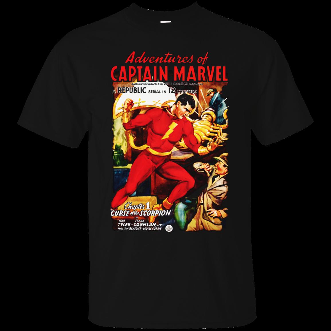 Buy Captain Marvel, Shazam, Retro, Republic Serial, Super Hero, Whiz Comics, Movie, Newest 2019 Fashion Stranger Things T Shirt Men for only 14.99 USD