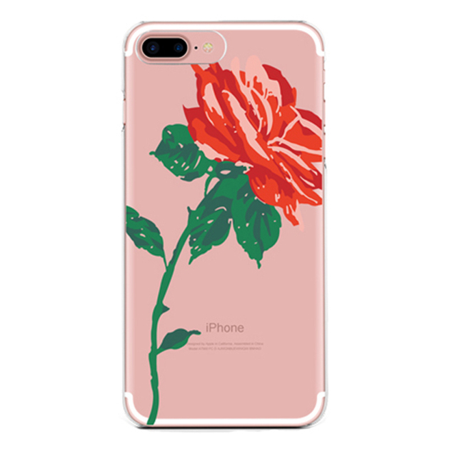 pretty nice 4e8fc e6602 US $2.4 |BROTOLA Brand 3D Blooming Red Rose Case For iphone 6 case Floral  Clear Soft TPU Phone Cases For iphone 7 6s Plus Cover Capa on  Aliexpress.com ...
