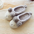 Outono e inverno Bonito Das Mulheres Em Casa Chinelos Para Meninas Das Senhoras Quarto interior de Algodão Feminino Sapatos de Inverno Apartamentos Fundo Macio Grande tamanho