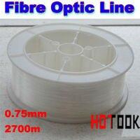 Câble de fiber optique en plastique matériel led fiber de fiber optique lumière câble ligne 2700 m de long chaque rouleau 0.75 mm diamètre garantie 2 anos