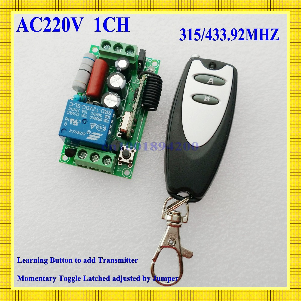 220V 10A 1 Channel Wireless Relay Remote Control Switch RF 315 433.92 MHz ASK Learning Code Lamp Light LED Bulb Remote Control 315 433mhz unicorn wireless remote control lamp led switch for light bulb electrical devices ac 220v 1ch relay