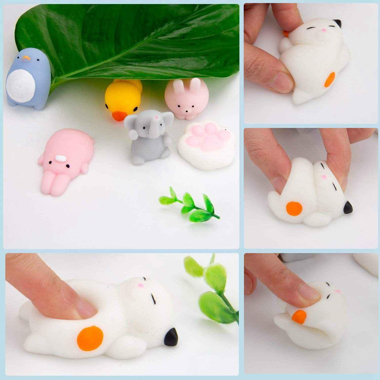 Случайный 30 шт милые животные мягкий Моти, Kawaii Мини Мягкие для сжатия игрушки, fighty ручная игрушка для детей подарок, снятие стресса, украшение