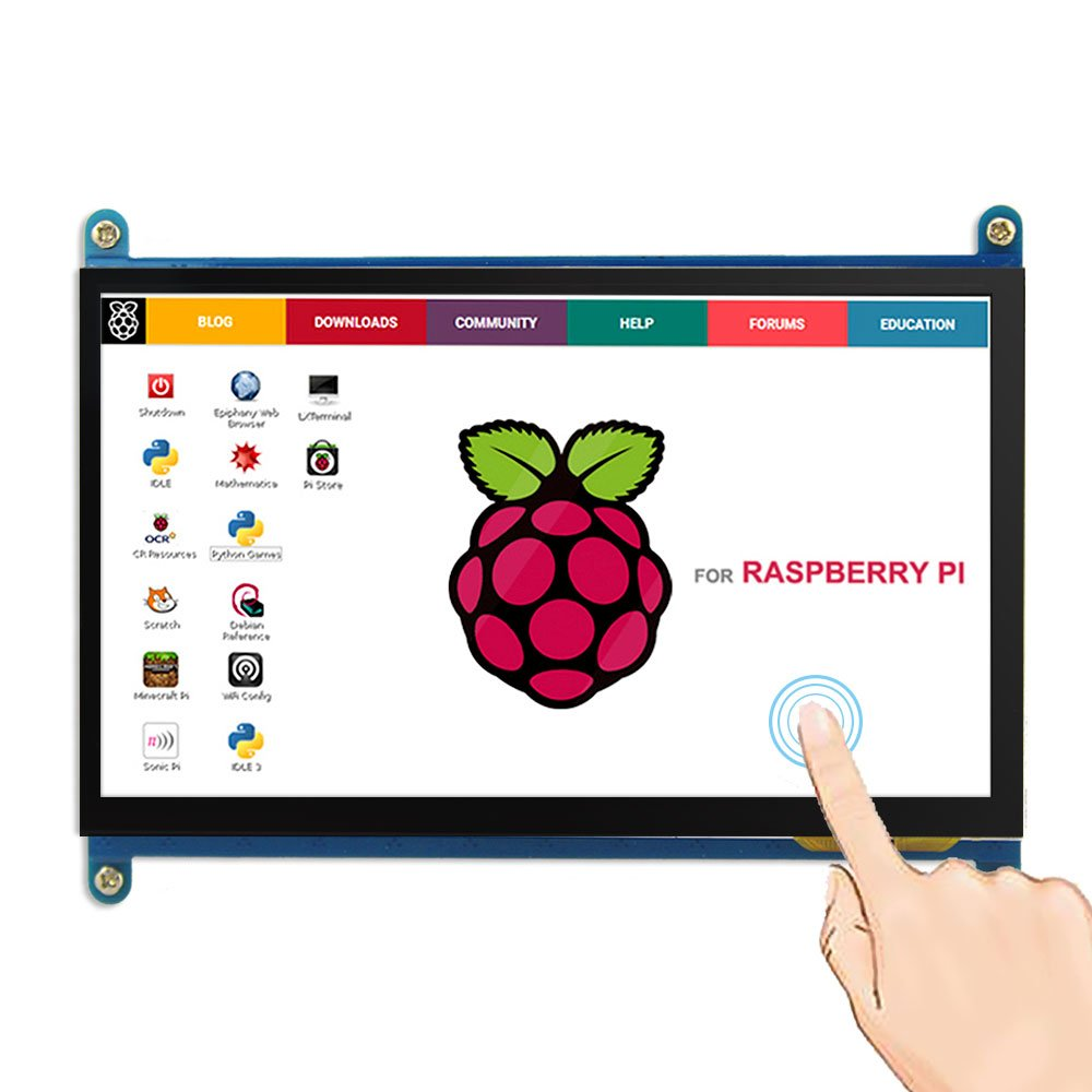 7 inch Raspberry Pi 3 Model B+ LCD Display Touch Screen LCD 800*480 HDMI TFT Monitor image