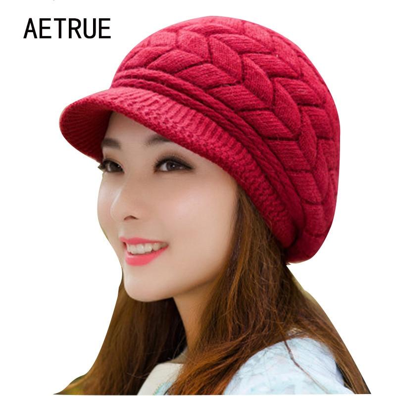 hiver bonnets en tricot femmes de chapeau chapeaux d 39 hiver pour les femmes dames beanie filles. Black Bedroom Furniture Sets. Home Design Ideas