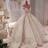 Арабская женщина свадебное платье Индивидуальные Аппликации Украшенные бисером Длинные вечерние платья для вечеринок большой Поезд vestido de