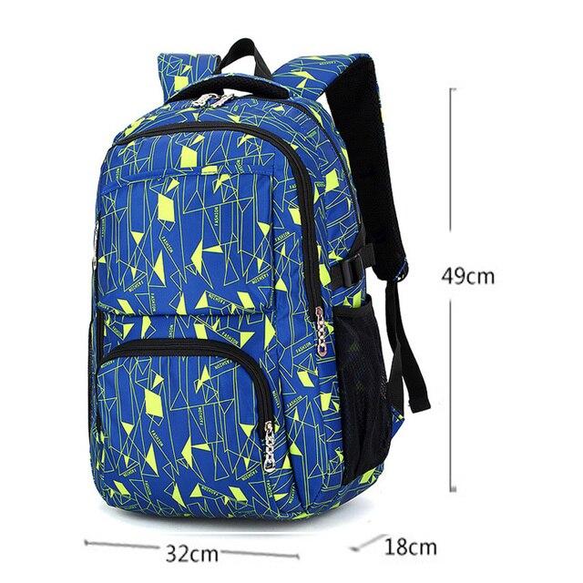 2018Hot Sale Children School Bags for Teenagers Boys Girls Big Capacity School Backpack Waterproof Satchel Kids Book Bag Mochila School Bags