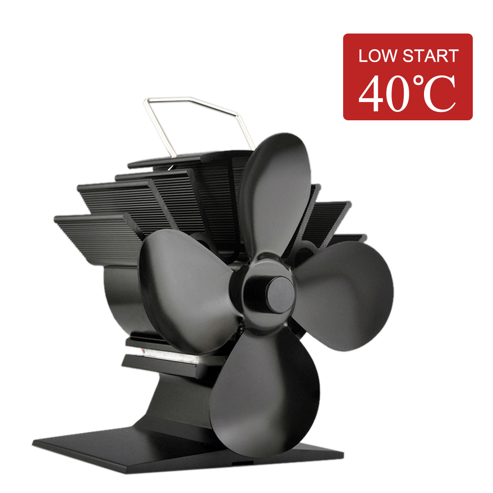 4 Blade Heat Powered Fireplace Fan for fireplaces and stoves Wood Heater Home Eco Fan Fireplace