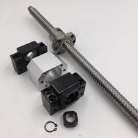 L 500mm SFU2505 Ballscrew Precision C7 Single Ballnut BK20 BF20 Bearing Supports Nut Bracket Coupling CNC Ball Screw Parts