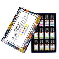 Diffuseur aromathérapie huile humidificateur d'huile essentielle 6 sortes parfum de lavande, arbre à thé, romarin, citronnelle, Orange