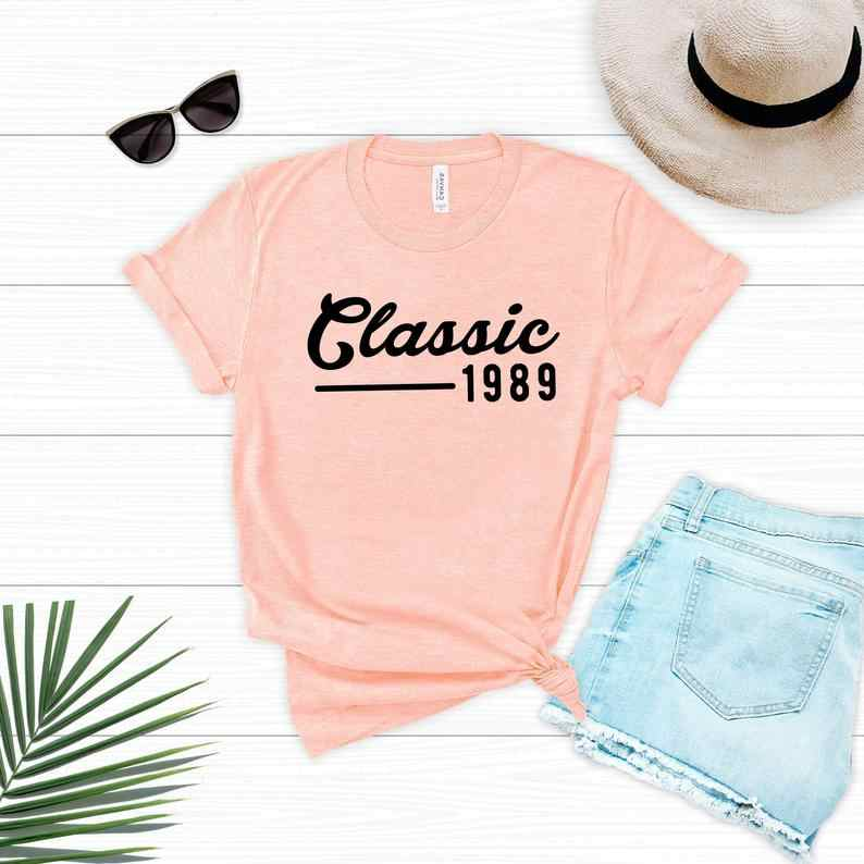 PADDY DESIGN 30th Thirty Birthday Party Classic 1989 T-shirt Summer Short Sleeve Women Top Tee New Fashion Female T Shirt Tops