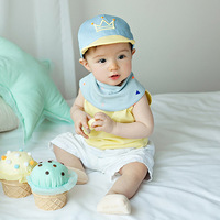 2017 Summer Baby Snapback Hats Infant Baseball Cap Embroidered Crown Cotton Caps Girls Visors Newborn Photography