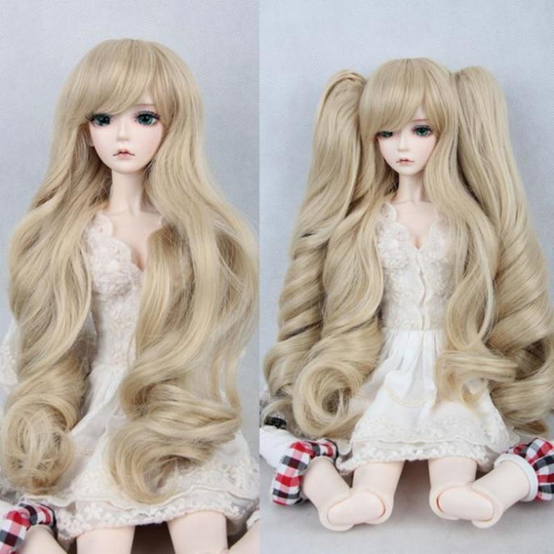 Dedicated 1/3 1/4 1/6 Bjd Doll Wigs Oblique Bangs Long Hair Cute Tiger Double Ponytail Hair Clip