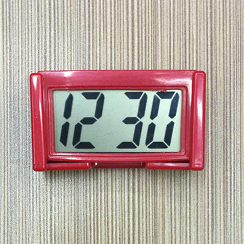 Mini Digital LCD Clock Auto Car Truck Dashboard Date Time Calendar Clock Stick Large Screen Digital Display Car Clock